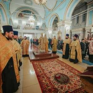Всенощного бдения в Спасо-Вознесенском кафедральном соборе Симбирска