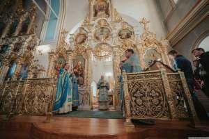 22 ноября в Спасо-Вознесенском кафедральном соборе Ульяновска совершено празднование иконе Божией Матери «Скоропослушница»