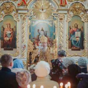 29 декабря, в Неделю 29-ю по Пятидесятнице митрополит Иосиф совершил богослужения в Спасо-Вознесенском кафедральном соборе г. Ульяновска