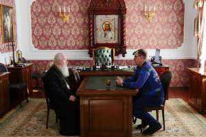 26 февраля состоялась встреча митрополита Иосифа с директором Ульяновского областного художественного музея Сергеем Борисовичем Ждановым