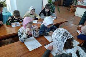 Дебютантами православной олимпиады в селе Большие Ключищи стали самые юные воспитанники воскресной школы