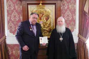 Глава Симбирской митрополии вручил Патриаршую награду Александру Ивановичу Якунину