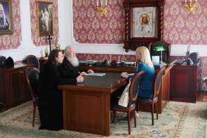 Встреча митрополита Иосифа с исполняющей обязанности начальника Управления Министерства юстиции