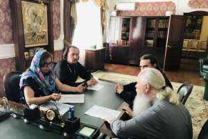 Встреча митрополита Иосифа с советником Губернатора Ульяновской области по семейной и демографической политике