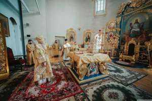 Воскресное богослужение в Градо-Симбирском Спасо-Вознесенском кафедральном соборе