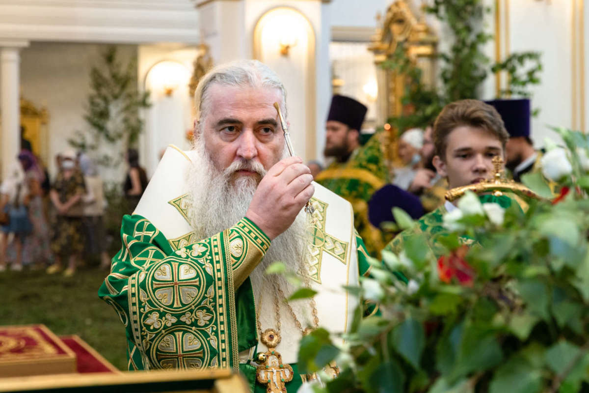 Всенощное бдение в Спасо-Вознесенском кафедральном соборе Ульяновска