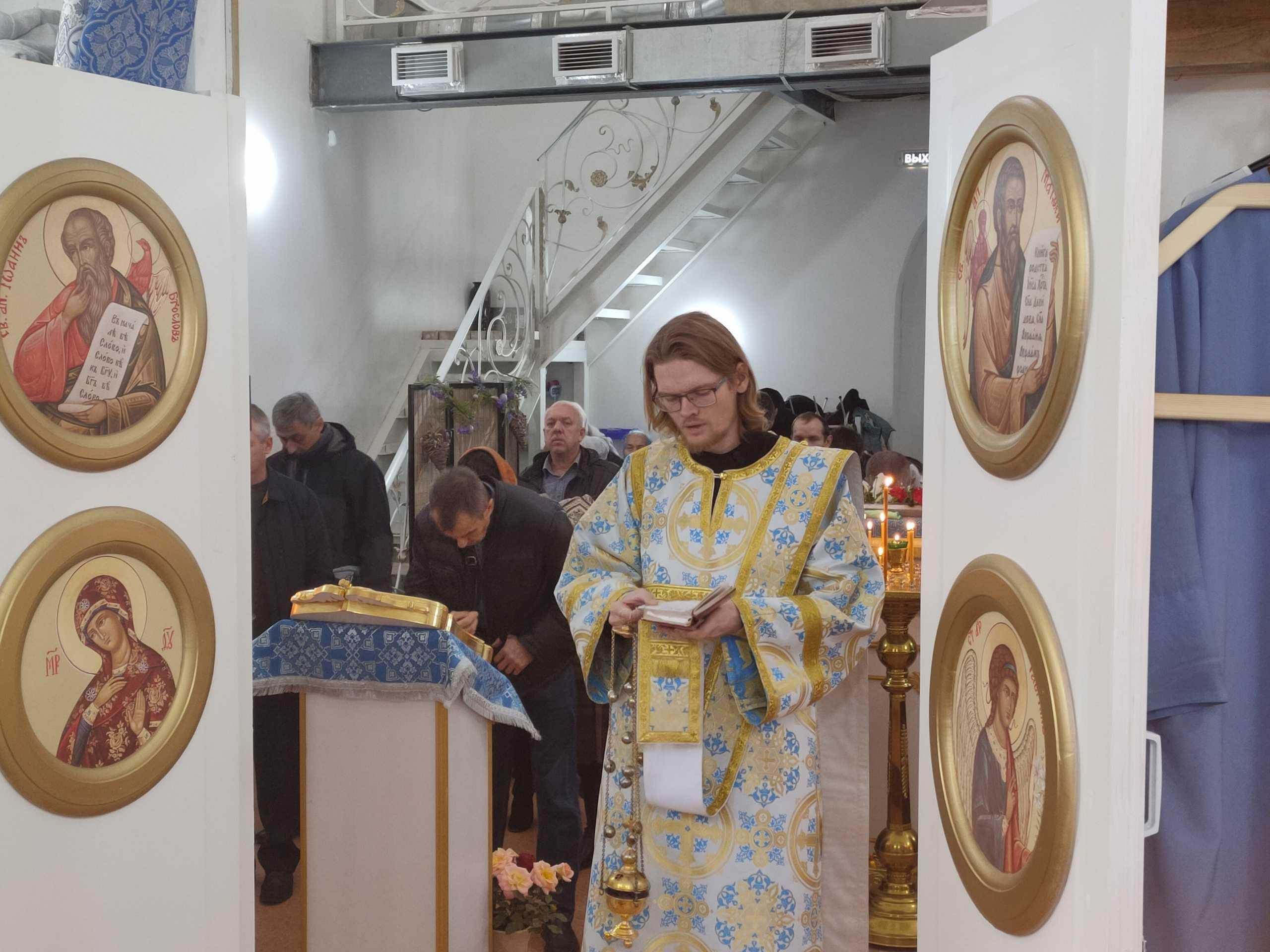 В храме в честь святителя Спиридона Тримифунтского состоялось отпевание диакона Андрея Любавина